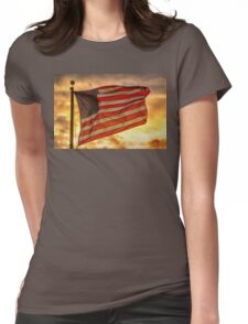 American Sunset On Fire Womens Fitted T-Shirt