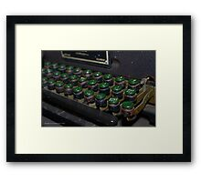 WWII Mechanical Typewriter Detail - American Airpower Museum | Farmingdale, New York Framed Print