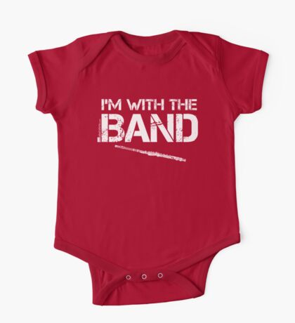 I'm With The Band - Flute (White Lettering) One Piece - Short Sleeve