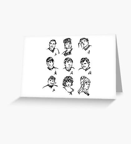 TOS Crew Greeting Card