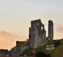 Corfe Castle, Dorset at Dusk Sticker