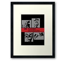 Cowboy Bebop - Group BW Framed Print