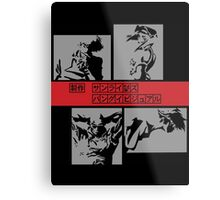 Cowboy Bebop - Group BW Metal Print
