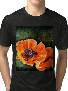 Oriental Poppies family Tri-blend T-Shirt