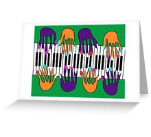 Many hands make music Greeting Card