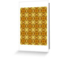 Golden Floret Pattern Greeting Card