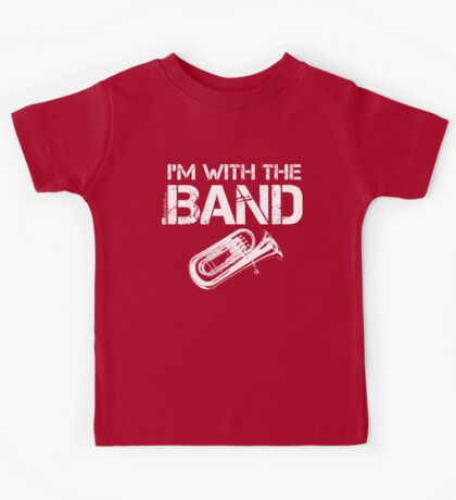 I'm With The Band - Baritone (White Lettering) Kids Tee