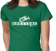Label Me A Baritone (White Lettering) Womens Fitted T-Shirt