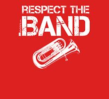 Respect The Band - Baritone (White Lettering) Womens Fitted T-Shirt