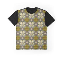 Florets and Clovers Pattern Graphic T-Shirt