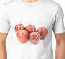 Red Apples covered with water drops. Unisex T-Shirt