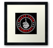 I hate your Company Framed Print