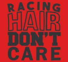 Racing hair don't care Kids Tee