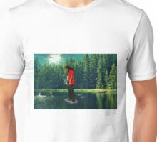 you can walk on water don't look down Unisex T-Shirt
