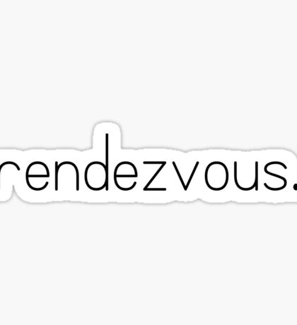 rendezvous. -perfect -one direction  Sticker