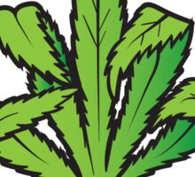 Pot Leaf Weed Middle Finger Flipping Off Sticker