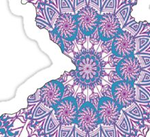 New Jersey Purple Mandala Sticker