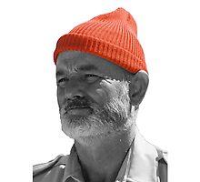 Steve Zissou Red Cap Photographic Print