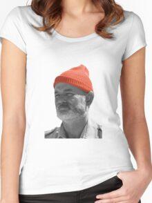Steve Zissou Red Cap Women's Fitted Scoop T-Shirt