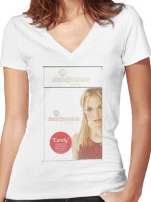Mandy Moore Candy  Women's Fitted V-Neck T-Shirt