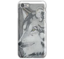 Wolf in Acrylics Number 2 \,,/ iPhone Case/Skin