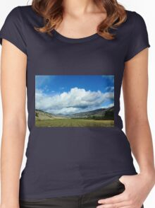 Farmers Fields and Rolling Hills Women's Fitted Scoop T-Shirt