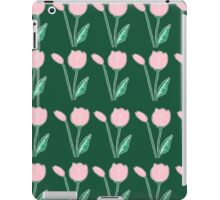 Tulips Pattern in Light Pink and Dark Green iPad Case/Skin