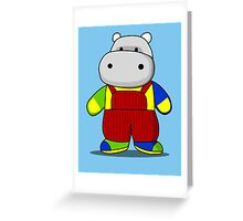 Hippo Greeting Card
