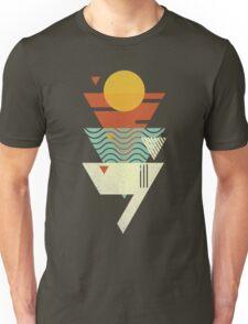 Sun. Sea. Sand. Shark. Unisex T-Shirt