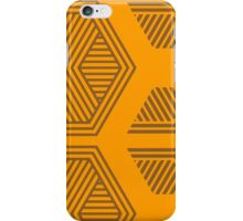 Halftone Pattern Orange iPhone Case/Skin