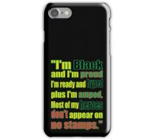 BLACK HEROES, NO STAMPS iPhone Case/Skin