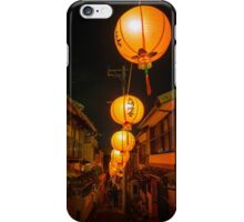 Lighting the back streets, Nagasaki Lantern Festival iPhone Case/Skin
