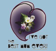 wildflower, Best Mum EVER! heart quirky Kids Tee