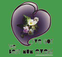 wildflower, Best Mum EVER! heart quirky Baby Tee
