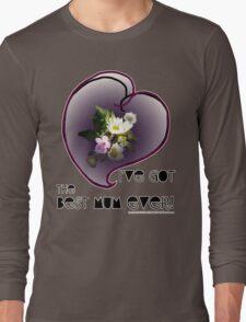 wildflower, Best Mum EVER! heart quirky Long Sleeve T-Shirt