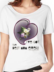 wildflower, Best Mum EVER! heart quirky Women's Relaxed Fit T-Shirt