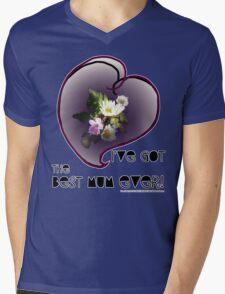 wildflower, Best Mum EVER! heart quirky Mens V-Neck T-Shirt