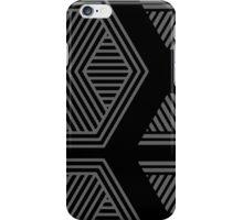 Halftone Pattern Black iPhone Case/Skin