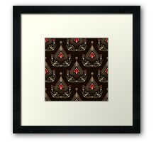 Seamless beautiful antique pattern ornament. Geometric background design, repeating texture. Framed Print