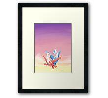 Pokemon Latias and Latios Framed Print