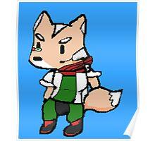 Fox Pixelated  Poster