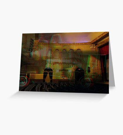 3D - A trip to the theatre  Greeting Card