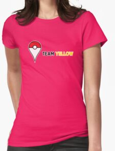 PokeGO Team Yellow Womens Fitted T-Shirt