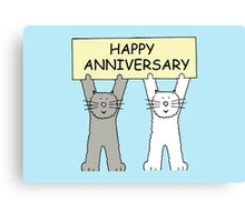 Cats Happy Anniversary Canvas Print