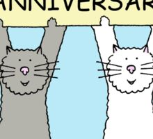 Cats Happy Anniversary Sticker