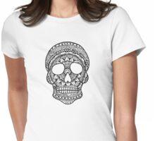 Mandala Skull Womens Fitted T-Shirt
