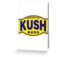 Straight Up Kush Buds Greeting Card