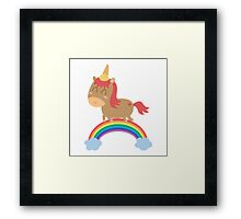 Unicorn Silly But Happy | 2016 Framed Print