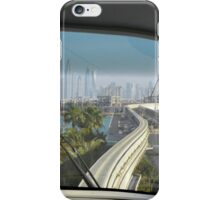 Dubai Palm Island seen from inside the train, United Arab Emirates. iPhone Case/Skin