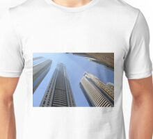 Photography of tall buildings from Dubai, United Arab Emirates. Unisex T-Shirt